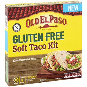 Old El Paso Gluten Free Soft Taco Kit 418g