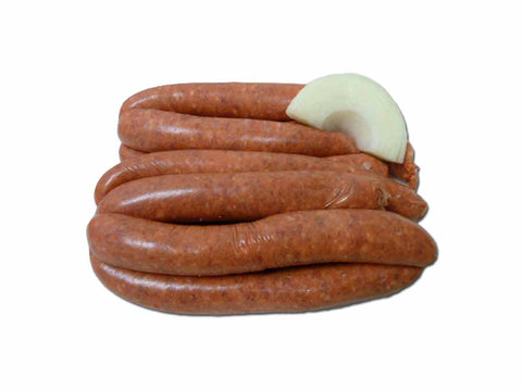 Steak, Tomato and Onion Sausages 1kg / $8.99kg