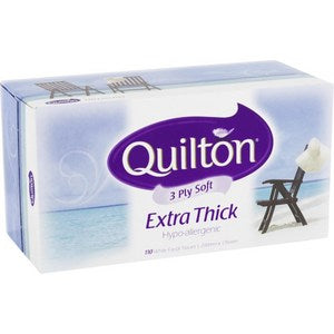 Quilton Classic White Facial Tissues (110 pack), $2.00ea