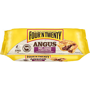 Four 'N Twenty Pies Angus Beef, Cheese & Bacon 760g (4 Pack)