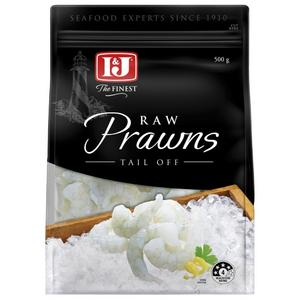 I&J Raw Prawns Tail Off, 500g