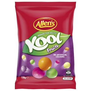Allen's Kool Fruits 150g, $3.00ea