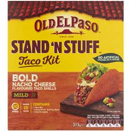 Old El Paso Stand 'n Stuff Bold Nacho Cheese Taco Kit 315g