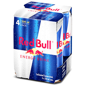 Red Bull Energy Drink Multipack 250mL (4x Pack)