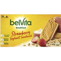 Belvita Strawberry Yoghurt Breakfast Biscuits (5x pack) 253g