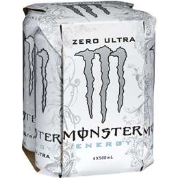Monster Energy Drink Ultra Zero, 4x 500ml