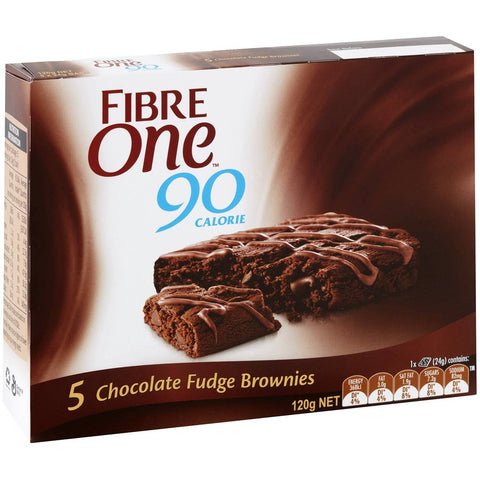 Fibre One Chocolate Fudge Brownies (5x pack), 120g