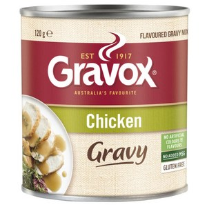 Gravox Chicken Gravy Mix 120g, $3.30ea