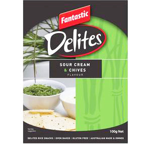 Fantastic Delites Snacks Sour Cream & Chives, 100g