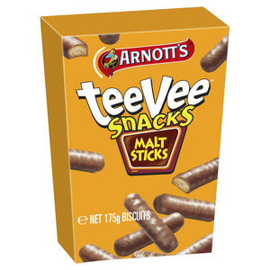 Arnott's Chocolate Malt Sticks TeeVee Snacks 175g
