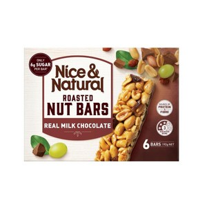 Nice & Natural Real Milk Chocolate Roasted Nut Bars 192g (6 Bars), $4.00ea