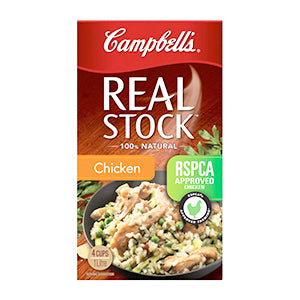 Campbell's Real Stock, Chicken 1L $4.00ea