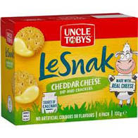 Uncle Tobys -  Le Snak Cheddar Cheese Dip & Crackers, 132g