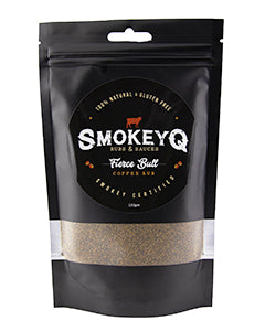 SmokeyQ Fierce Bull Coffee Rub 150g, $13.00ea (Gluten Free)