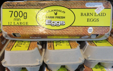 LLandilo Farm Fresh Eggs 700gm CAGE FREE $4.99ea