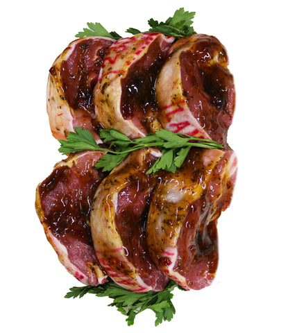 Lamb Rump Steaks with Honey, Rosemary & Mint $24.99kg