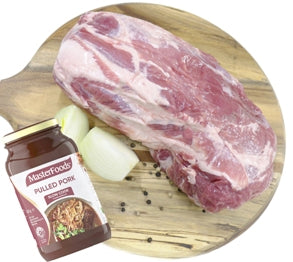 Pulled Pork Combo (1.6kg Collar Butt) $32.00ea