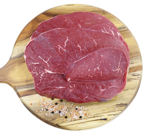 BBQ Round Steak Grass Fed min buy 1kg / $14.99kg