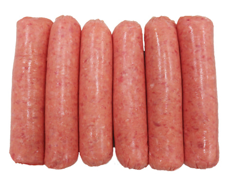 (6) Lean Thick Sausages $4.00 pk min 500gms