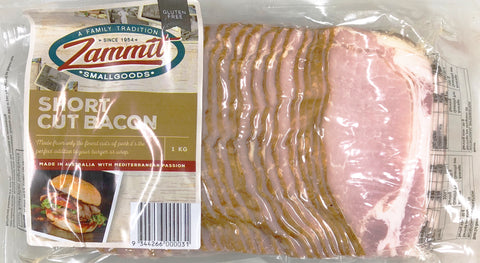 Zammit 1kg Rindless Shortcut Bacon Packs $13.99 ea