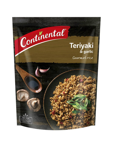 Continental Side Dish Teriyaki & Garlic Rice, 115g