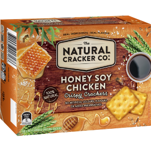 The Natural Cracker Co. Honey Soy Chicken Crispy Crackers, 160g