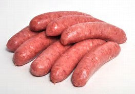 Preservative FREE all natural Beef Thin Sausages $9.00 per pack - min (6) 500 grams
