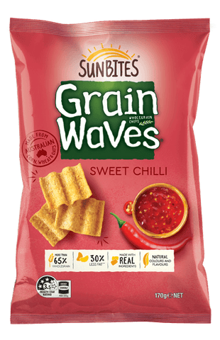 Sunbites Grain Waves Wholegrain Chips Sweet Chilli 170g
