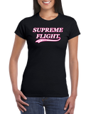 "WOMENS COTTON TEE ""Supreme Flight Disc Golf"""