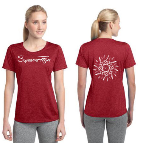 "WOMENS HEATHER SCOOP NECK SHIRT ""SF Supreme Flight & Indian Sun"""
