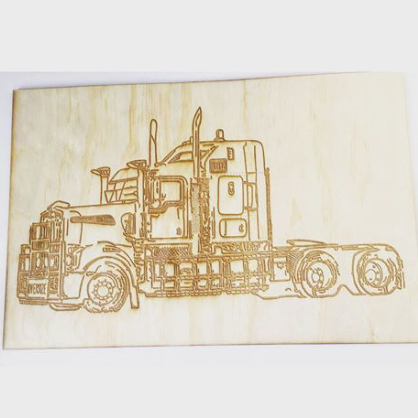Wood Sketch plaque - Extra Large
