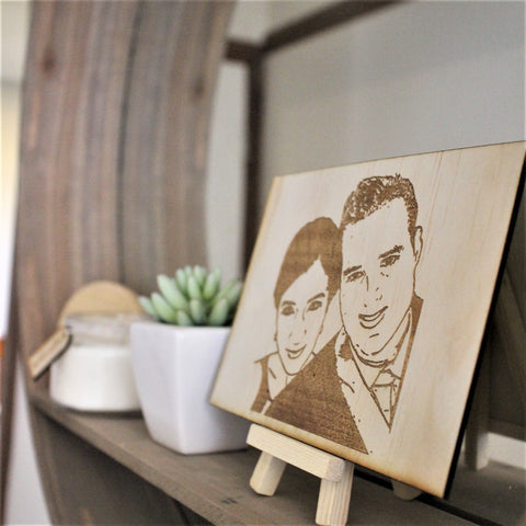 Wood Sketch plaque - Rectangle