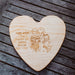 Love Heart Cheese Board (personalised)