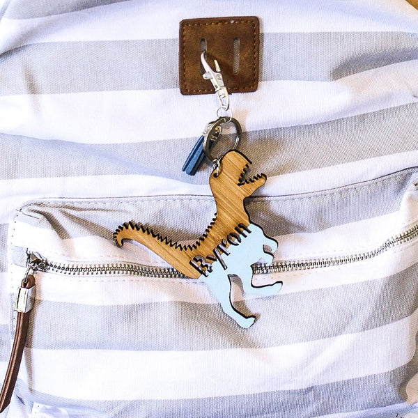 Personalised Bag Tag - Dinosaur