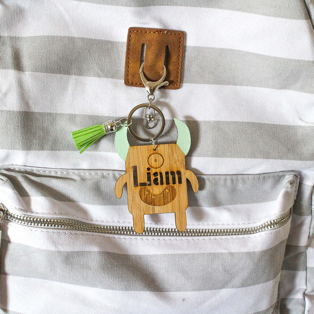 Personalised Bag Tag - Monster