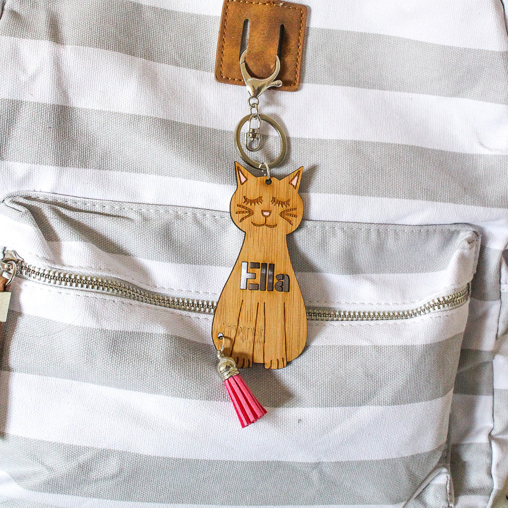 Personalised Bag Tag - Cat