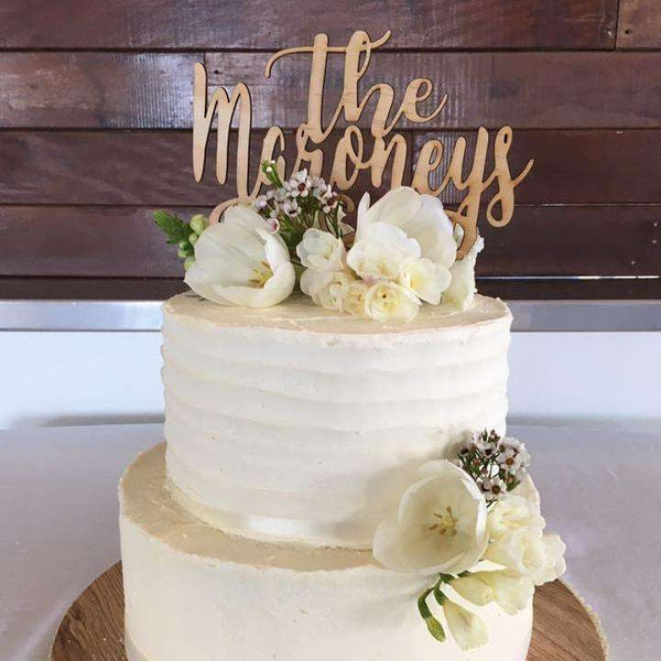 The 'Last Name' Cake Topper
