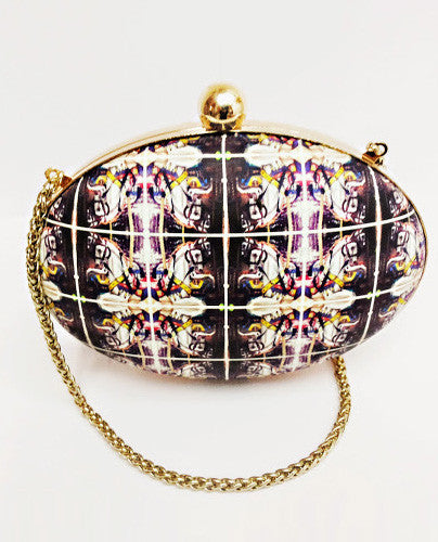 Carousel Round Box Clutch