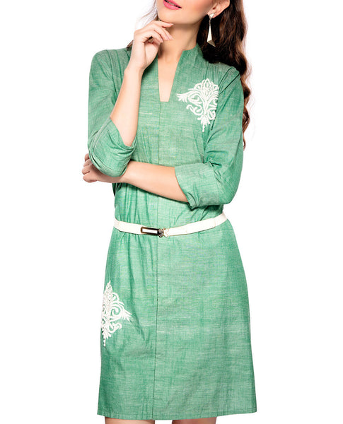 Cotton Khadi Dress