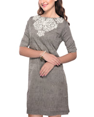 Dresses - Cotton Khadi Dress