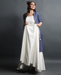 Dresses - Flared Gown With Jacket Dress