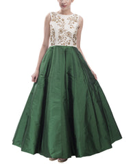 Dresses - Green Indo-Western Ensemble