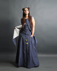 Dresses - The Denim Look Linen Maxi-Dress