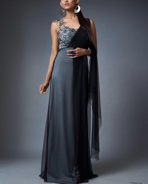 Cocktail Saree Gown