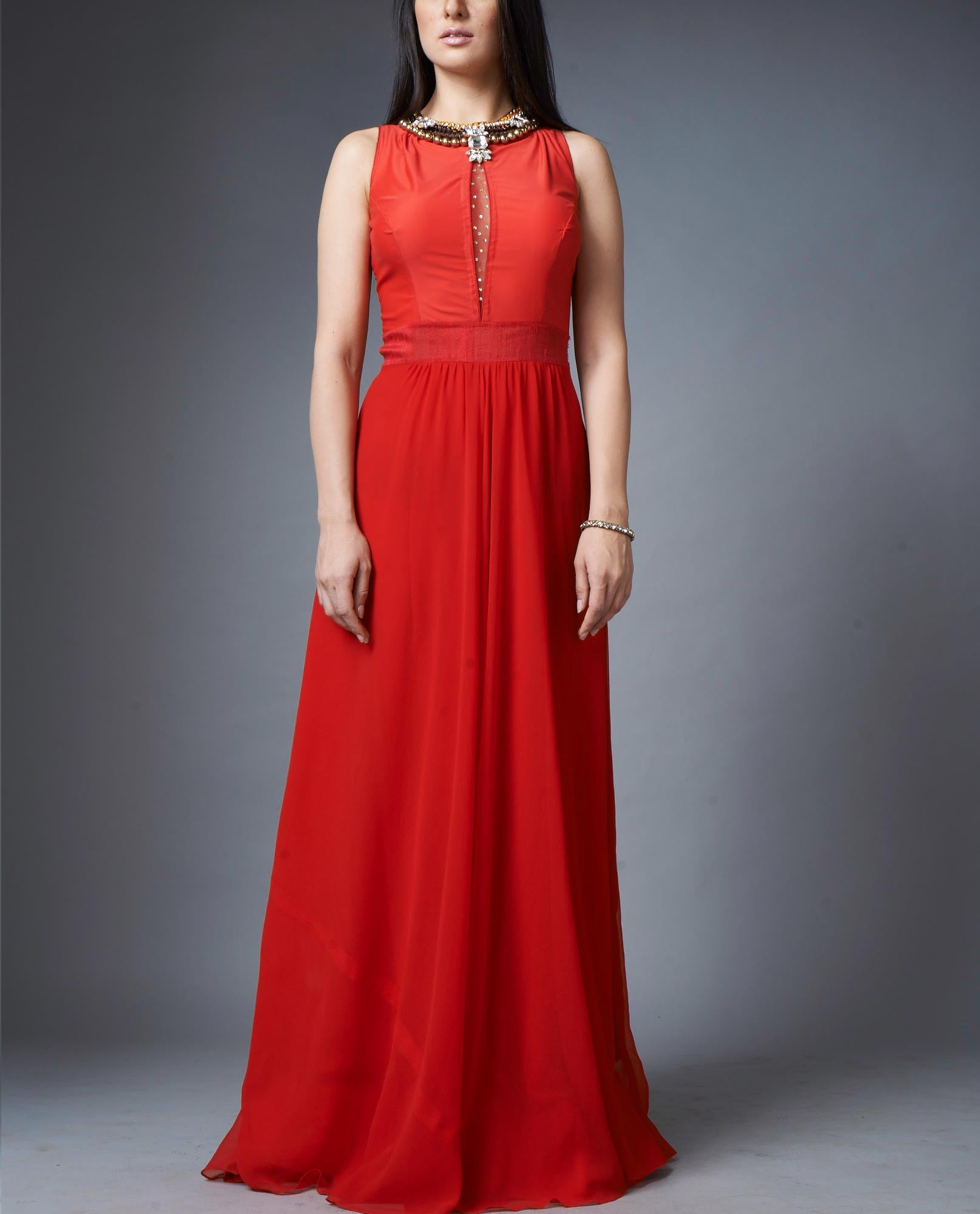 Evening Gowns - Fiery Red Gown
