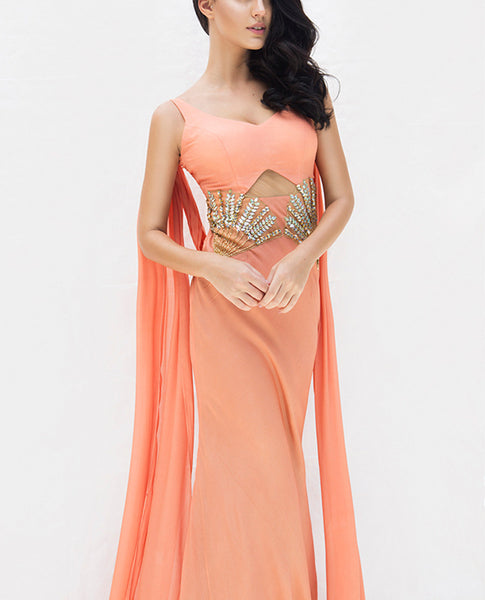 Pivoine Saree Gown