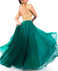 Evening Gowns - Rama Green Gown