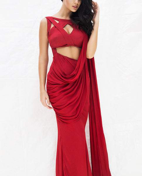 Syrah Saree Gown