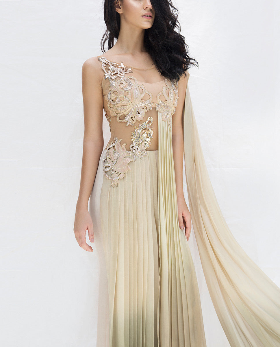 Evening Gowns - Thistle Saree Gown
