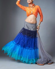 Lehenga Set - Colour Block Lehenga Set